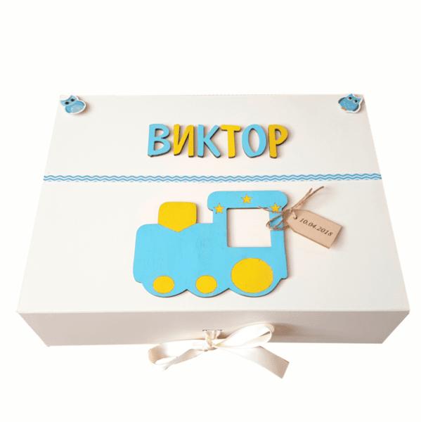 Ръчно декорирана кутия за спомени с продукти